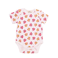 Organic KID Miss Owl Short Sleeve Bodysuit