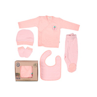 Organic KID Organic Cotton Pink  5 Piece Take Me Home Set