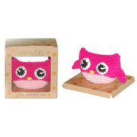 Organic KID Organic Baby Hand Made Toy -Pink Owl