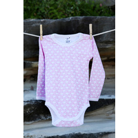 100% Certified Organic Flamingo Long Sleeve Bodysuit