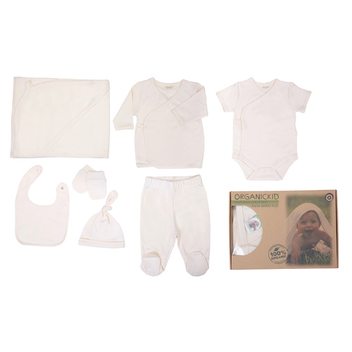 Organic KID Organic 7 Pieces New Born Neutral Take Me Home Set