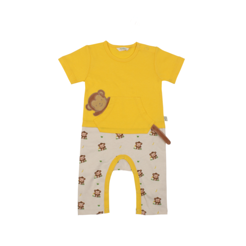 Organic Kid - Organic Romper with Monkey Tail [Size: 000 0-3 months]